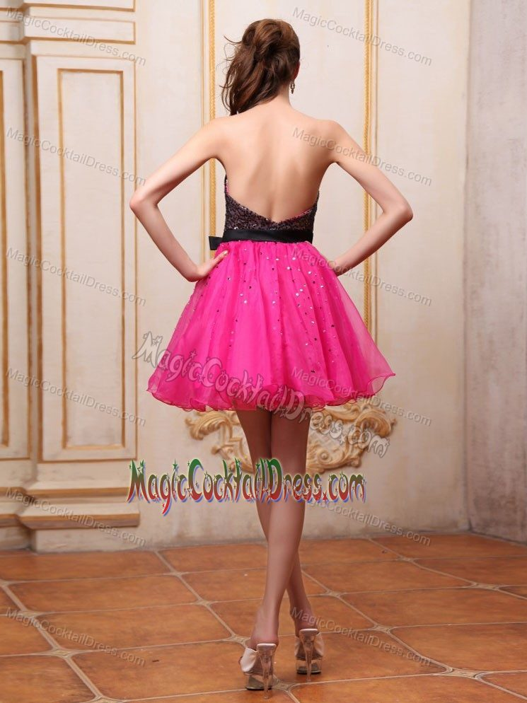 Mini-length Pink Sequin Homecoming Cocktail Dresses in Maryland