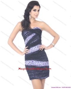 Mini Length Strapless Leopard Designer Cocktail Dresses for 2015