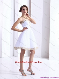 Cheap Sweetheart Beaing Cocktail Dress with Appliques