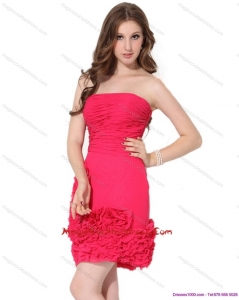 Popular Strapless Mini Length Hot Sale Cocktail Dresses with Ruching