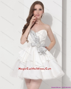 Sweetheart Ball Gown Hot Sale Cocktail Dresses in White
