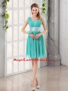 Straps Ruching Sweetheart A Line 2015 Fall Elegant Cocktail Dresses
