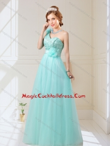 2015 Empire Lace Up Hand Made Flowers Cocktail Dresses in Mint