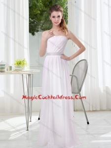 Elegant Empire Ruching Cocktail Dresses in White