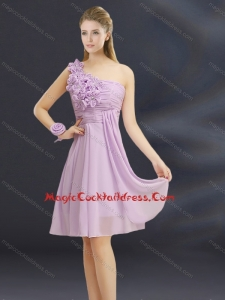 2015 Summer Pretty Hand Made Flowers Sweetheart Cocktail Dresses with Ruching
