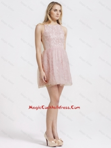 Most Popular Scoop Short Lace Cocktail Dresses for 2016 Summer