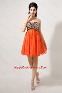 Pretty Beaded and Sequined Cocktail Dresses in Orange