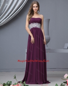 2015 winter Best Strapless Laced Cocktail Dresses with Brush Train