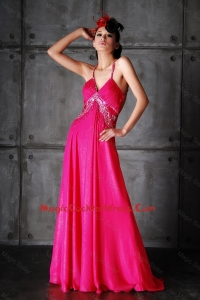 Perfect Empire Spaghetti Straps Criss Cross Cocktail Dresses with Beading