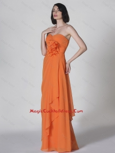 Popular Sweetheart Hand Made Flowers Cocktail Dresses in Orange