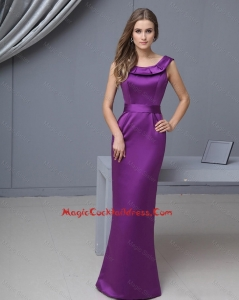 Beautiful Column Scoop Cocktail Gowns with Floor Length