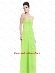 New Arrivals Strapless Beaded Prom Dresses in Spring Green