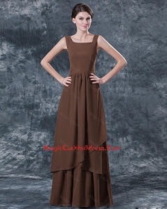 Discount Straps Brown Cocktail Dresses with Ruching