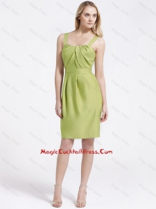 Most Popular Short Olive Green Cocktail Dresses with Belt
