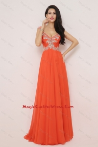 New Arrivals Brush Train Cocktail Dresses with High Slit and Beading