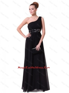 Pretty One Shoulder Sequined Cocktail Dresses in Black