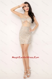 Sexy Mini Length Backless Cocktail Dresses with Beading