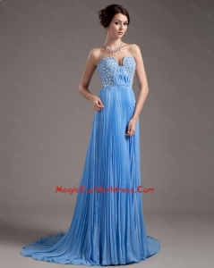 Discount Brush Train Sweetheart 2016 Cocktail Dresses in Baby Blue