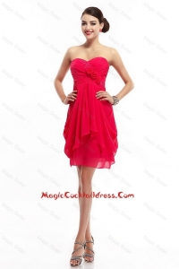 Fashionable Hand Made Flowers Cocktail Dresses with Sweetheart
