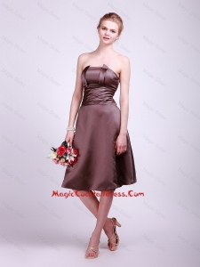 Classical Strapless Short Cocktail Dresses with Ruching