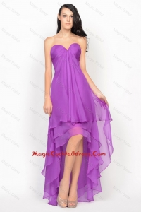Empire Sweetheart 2016 Pretty Cocktail Dresses with Ruching in Chiffon