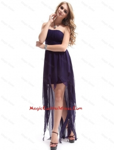Most Popular Strapless Backless Cocktail Dresses with High Low