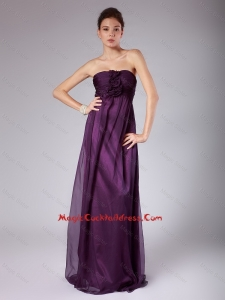 Perfect Ruched Sweetheart Cocktail Gowns with Hand Made Flowers