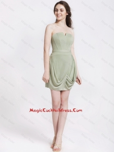 Classical Short Strapless Cocktail Dresses with Ruching