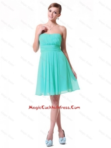 Discount Strapless Mini Length cocktail Dresses in Turquoise