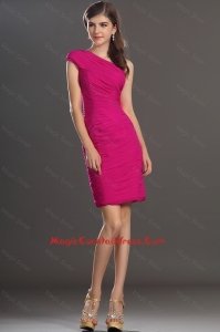 New Arrival One Shoulder Short Cocktail Dresses with Ruching