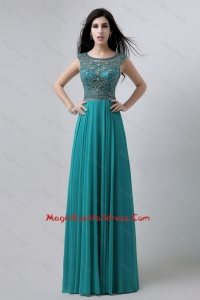 2016 Discount Bateau Floor Length cocktail Dresses with Beading
