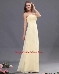 2016 Discount Sweetheart Ruching Light Yellow Cocktail Dresses