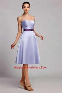 Modern Empire Sweetheart Short cocktail Dresses with Belt for Homecoming