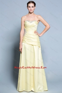 Wonderful Column Sweetheart cocktail Dresses with Beading in Light Yellow