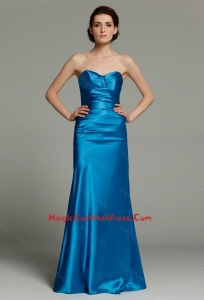 Beautiful Column Sweetheart Teal Cocktail Dresses with Zipper Up