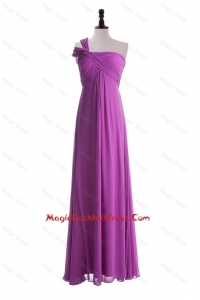 Custom Made Empire One Shoulder Cocktail Dresses with Ruching