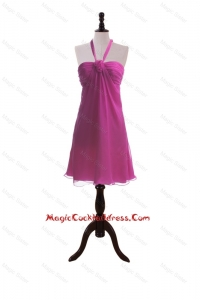 Custom Made Hand Made Flowers Fuchsia Short Cocktail Dresses