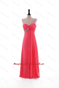 2016 Popular Empire One Shoulder Cocktail Dresses with Beading