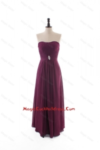 Custom Made Empire Strapless Ruching Cocktail Dresses with Beading