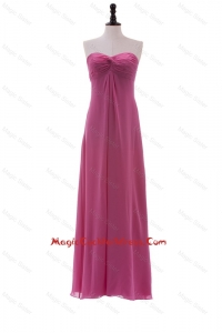 Discount Sweetheart Ruching Long Cocktail Dresses in Chiffon