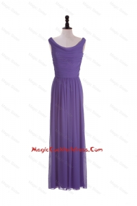 2016 Most Popular Scoop Eggplant Purple Cocktail Dresses with Ruching