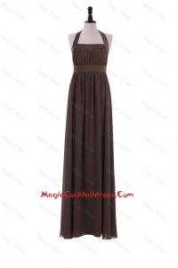 Custom Made 2016 Halter Top Brown Cocktail Dresses for Brown