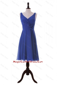 Royal Blue Hand Made Flower Short Cocktail Dresses for Holiday