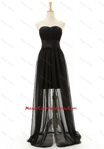 Brand New Sweetheart Belt Long Cocktail Dresses in Black