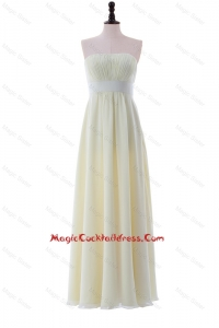 Empire Strapless Belt Cheap Cocktail Dresses with Ruching