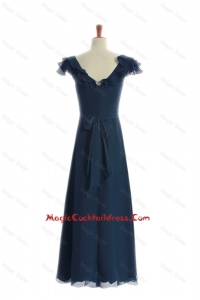 Most Popular 2016 Ruching and Sashes Navy Blue Cocktail Dresses