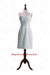 Custom Made Column Straps Short Cocktail Dresses with Ruching