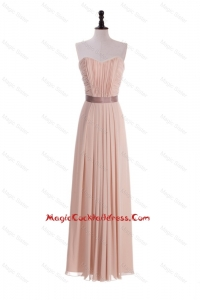 Custom Made Empire Sweetheart Ruching Cocktail Dresses with Belt