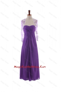 Pretty Empire Strapless Cocktail Dresses with Ruching in Eggplant Purple