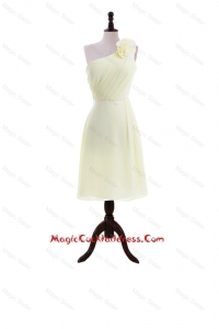 Most Popular Light Yellow Cocktail Dresses with Hand Made Flowers